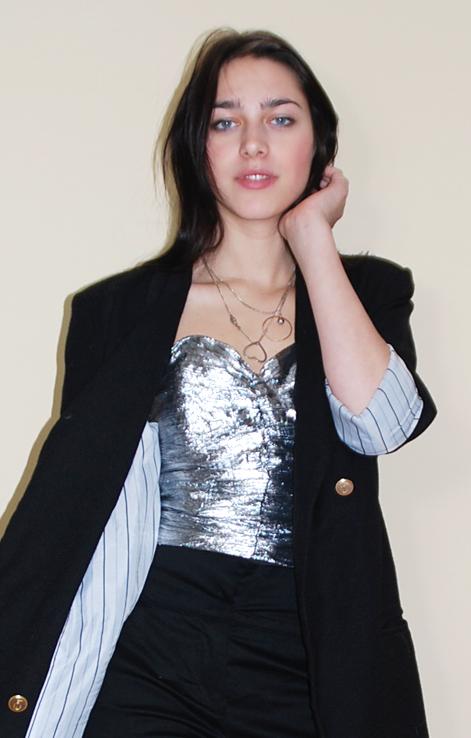 bluzka top gorset shiny top 80s top lovevintageshop vintage retro moda lata 80