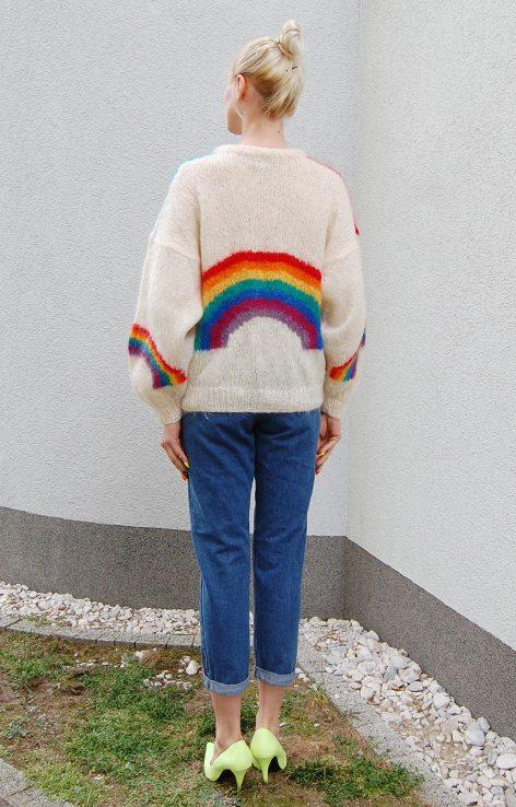 Sweter bufiaste rękawy vintage