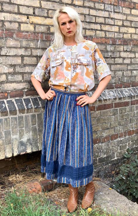 koszula w palemki spodnica lowicka