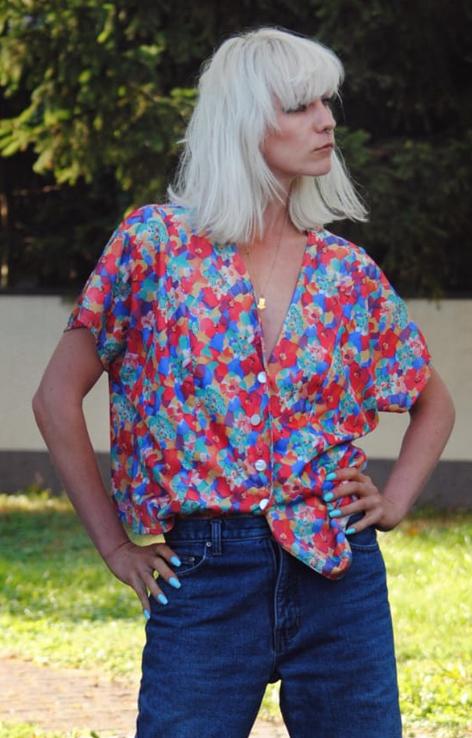 luzna kwiatowa koszula lata 90