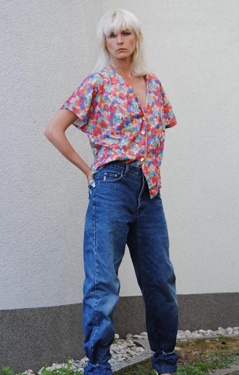 luzna kwiatowa koszula vintage lata 90