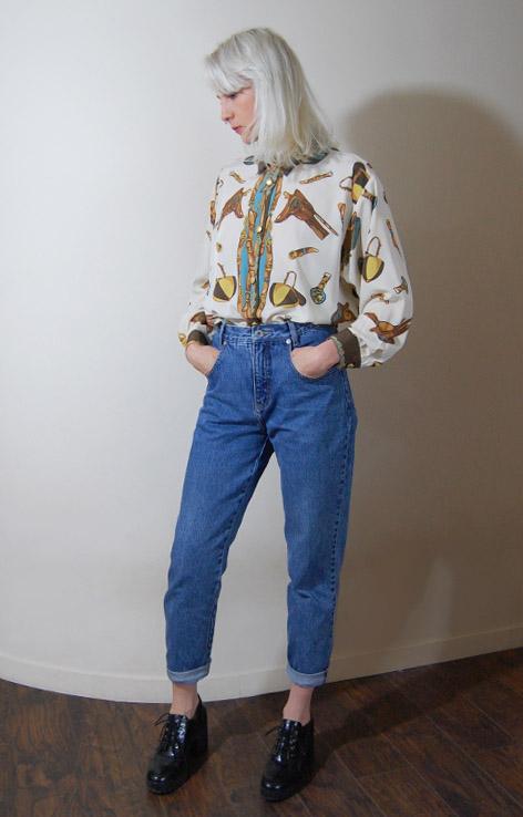koszula-wzor-jezdziecki-konie-vintage