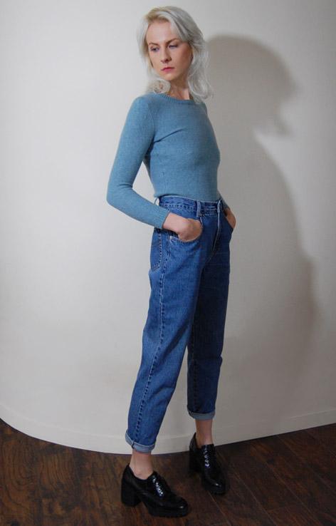 niebieski-sweterek-retro-vintage