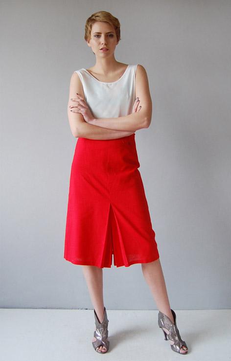 czerwona-spodnica-retro