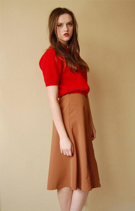 karmelowa-spodnica-retro-vintage