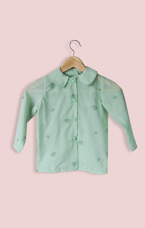 koszula zielona muszki