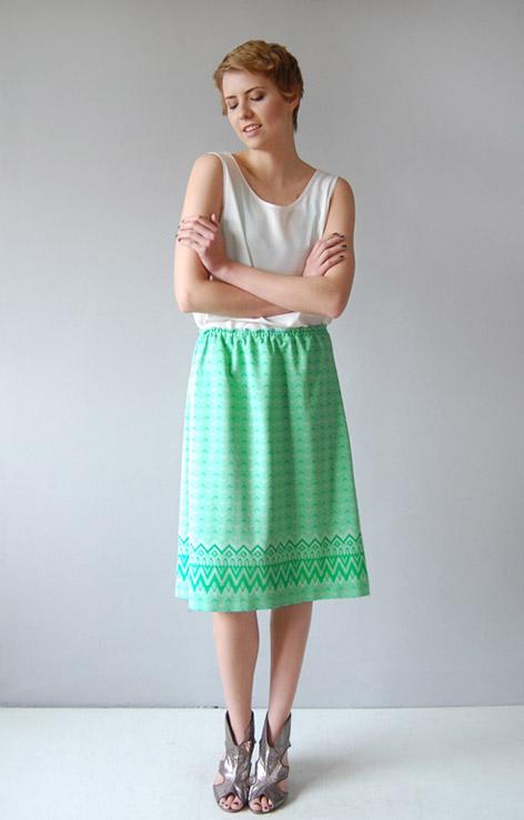 mietowa-spodnica-retro-vintage
